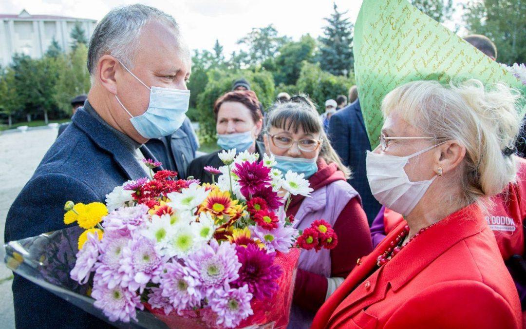 Dodon: Noi am ajutat și vom ajuta în continuare locuitorii din Gagauzia. Împreună vom reuși!