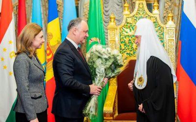 Igor Dodon a transmis felicitări Patriarhului Chiril cu ocazia zilei de naștere