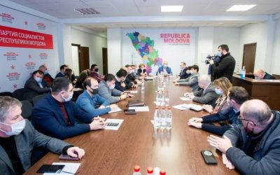 Игорь Додон принял участие в заседании парламентской фракции Партии социалистов