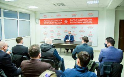 Igor Dodon a prezidat ședința de lucru a fracțiunii Partidului Socialiștilor din Consiliul Municipal Chișinău