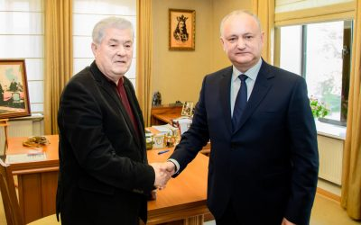 Игорь Додон и Владимир Воронин подписали соглашение о создании предвыборного блока ПСРМ-ПКРМ