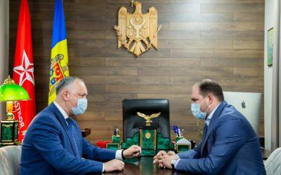 Igor Dodon a avut o întrevedere cu primarul general al mun. Chișinău, Ion Ceban