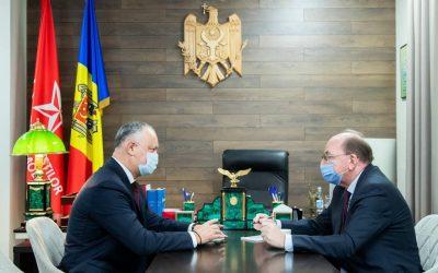 Astăzi am avut o întrevedere cu Ambasadorul Extraordinar şi Plenipotenţiar al Federaţiei Ruse în Republica Moldova, Oleg Vasnețov